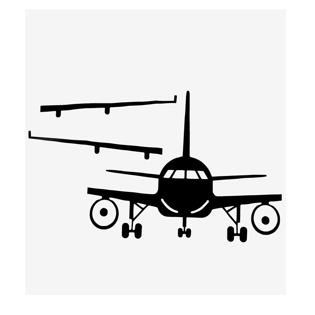 Plane Pattern Wall Stickers Removable Art Decal for Living Room Bedroom