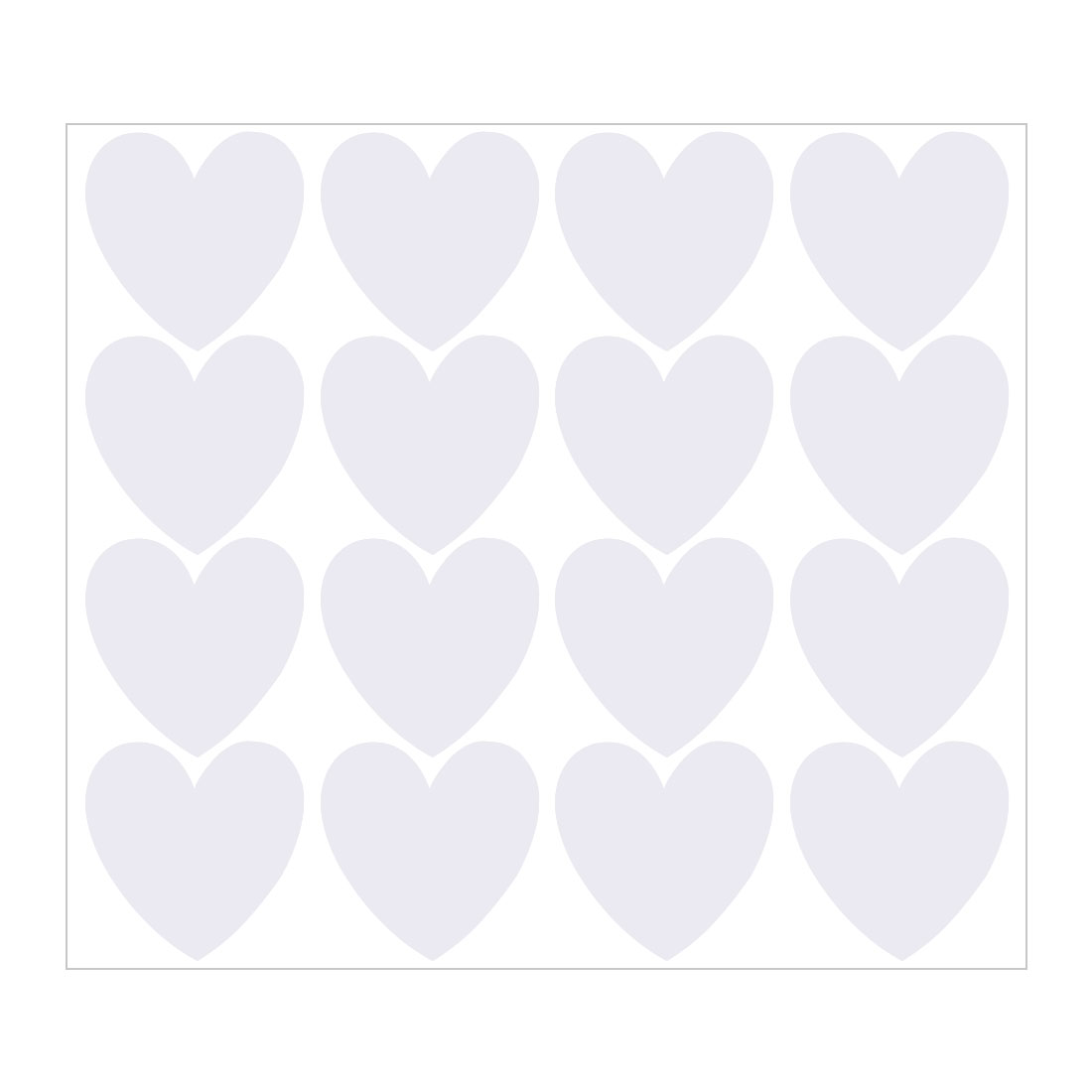 16pcs Heart Shape Wall Stickers Self-stick Decal 5.51 Inch by 5.51 Inch White