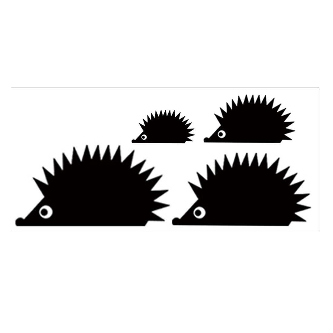 Hedgehog Pattern Self-stick Wall Stickers Artificial Decal for Bedroom Living