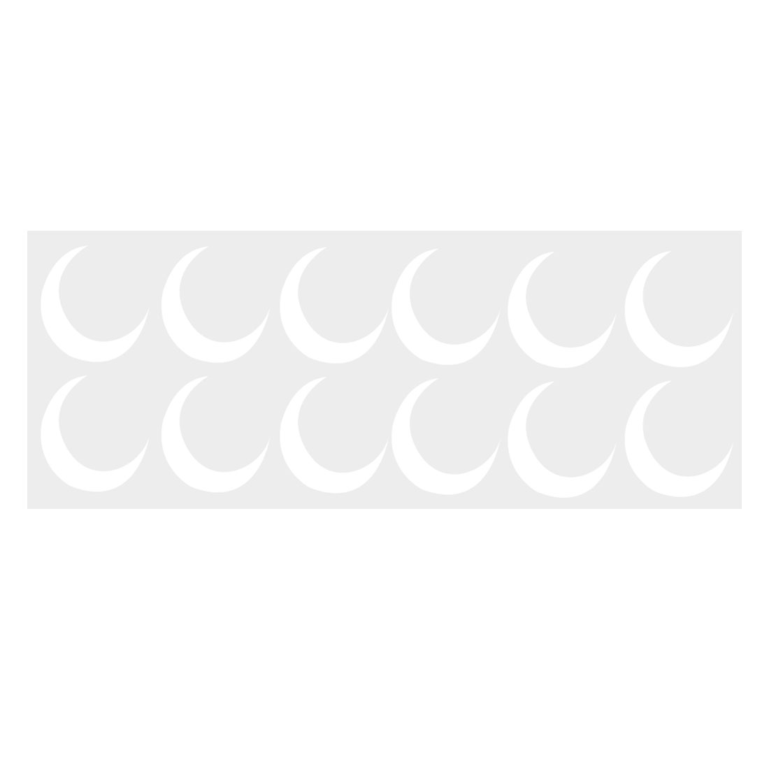 White Crescent Shape Self-stick Wall Stickers Artificial Decal for Bedroom 12pcs