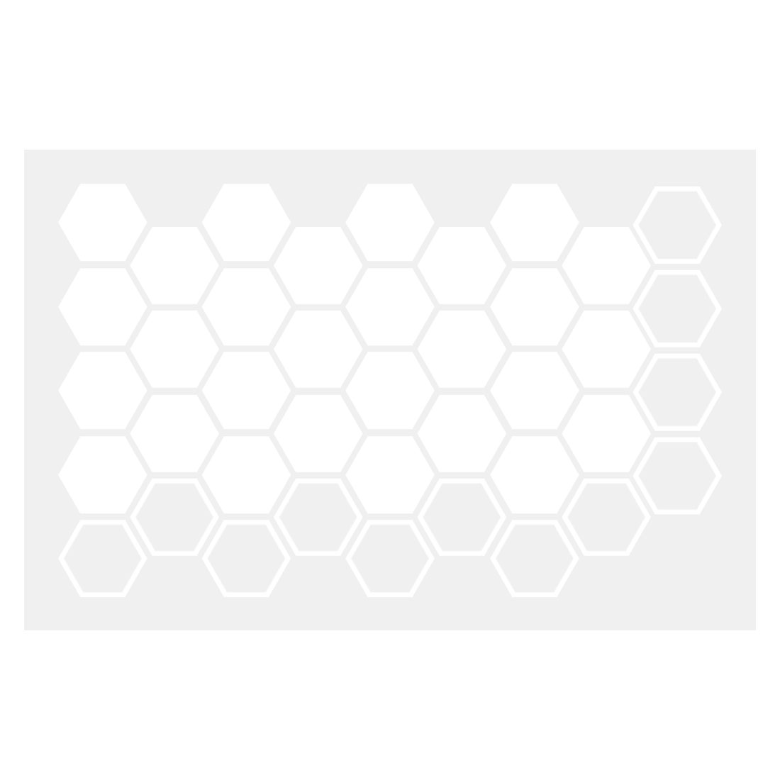 White Hexagon Pattern Wall Stickers Removable Art Decal for Living Room