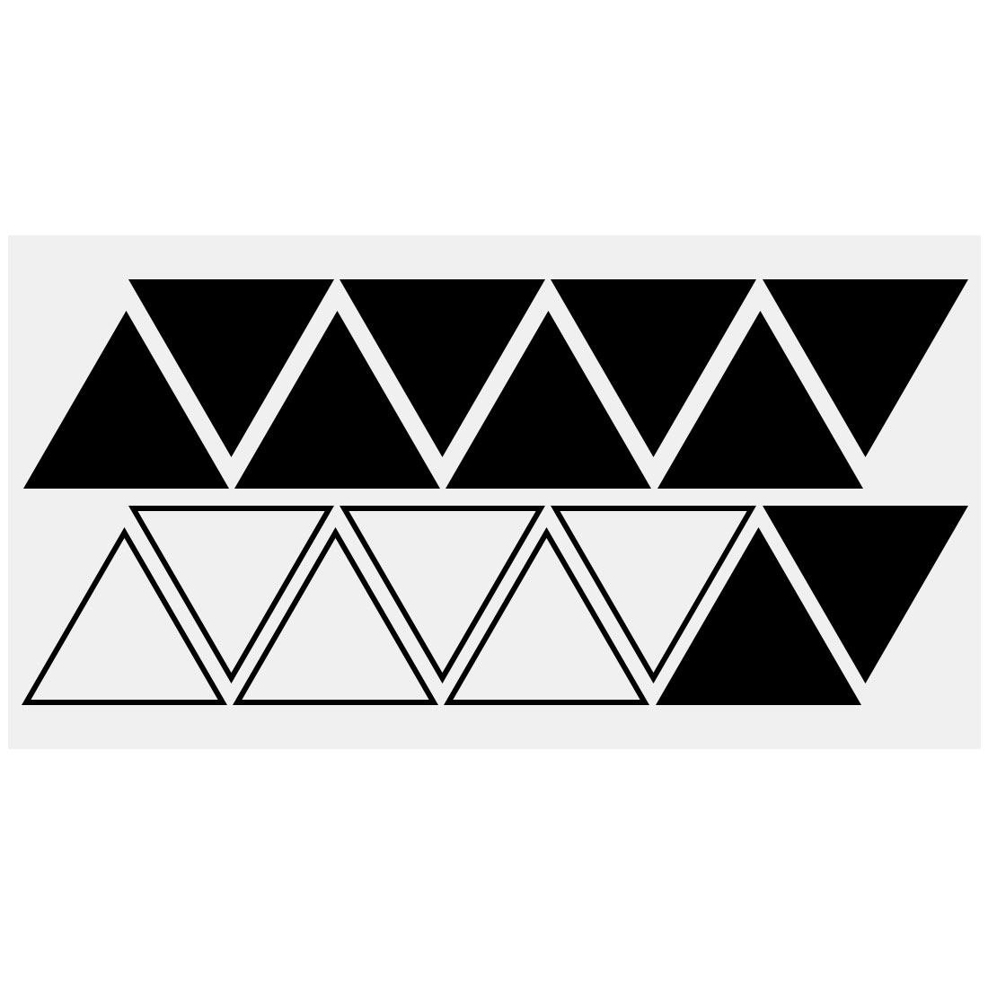 Black Triangle Pattern Wall Stickers Removable Art Decal for Living Room Bedroom