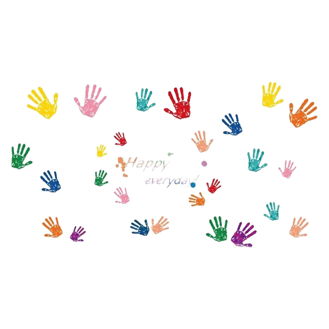 Colorful Fingerprint Pattern Wall Stickers Self-stick Artificial Decal