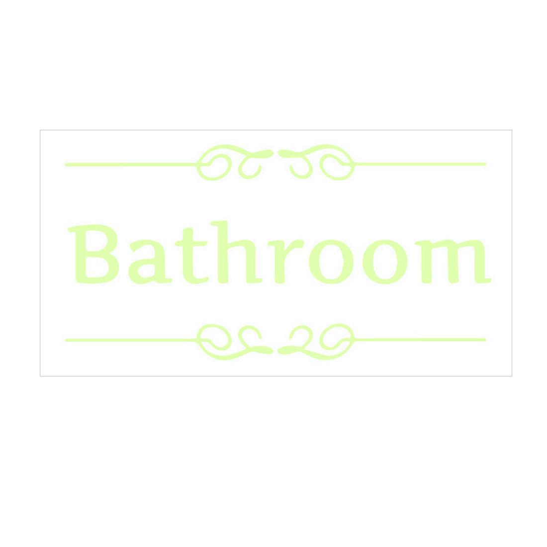 Words Pattern Wall Sticker Paper Decals Bathroom Washroom Apartment Decoration
