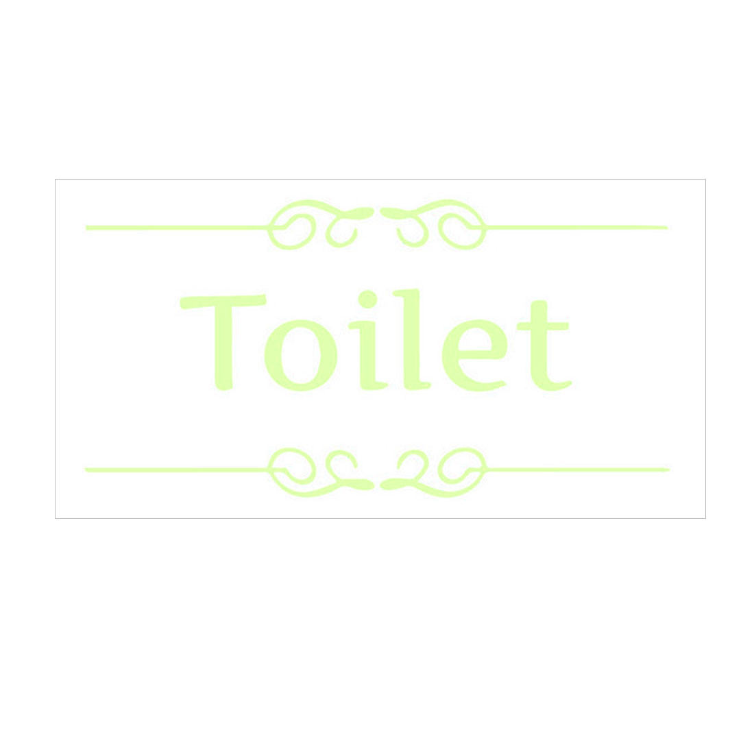 Toilet Wall Stickers Paper Decals Bathroom Washroom Apartment Decoration