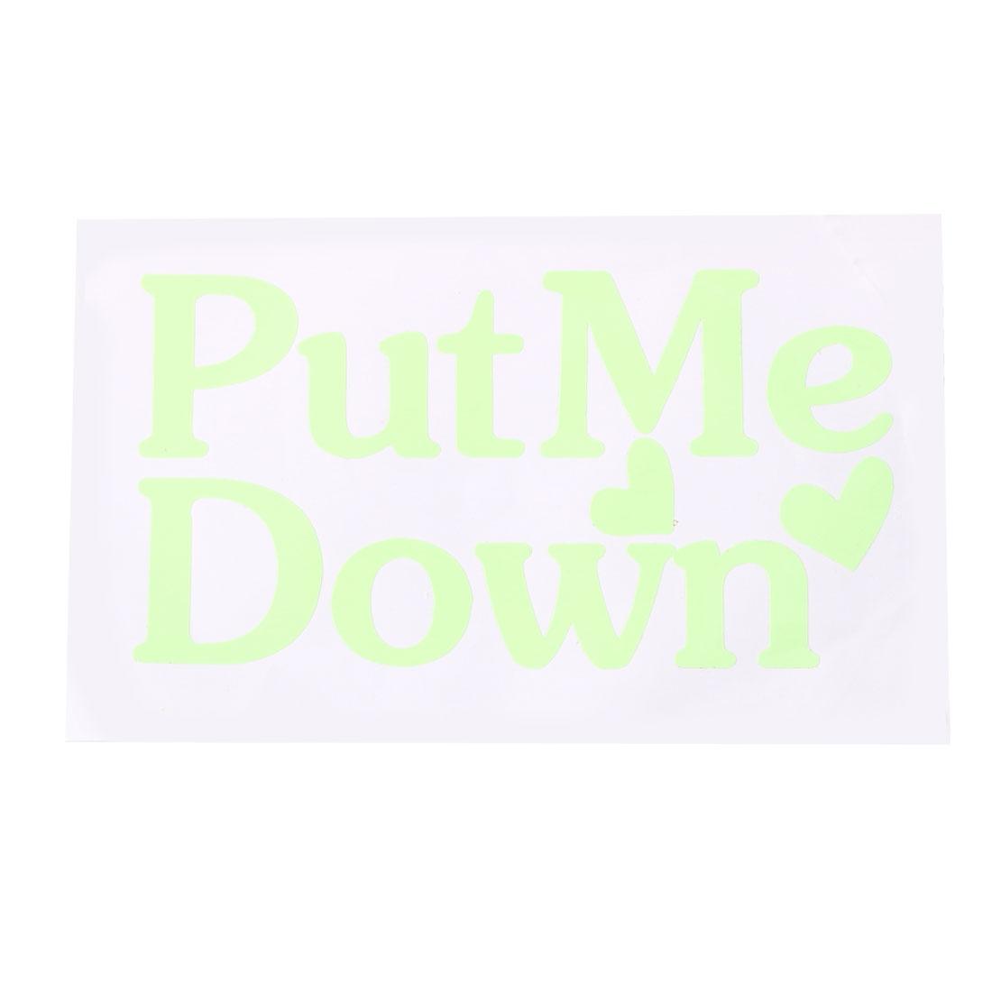 Put Me Down Pattern Toilet Sticker Paper Decals Bathroom Apartment Decoration