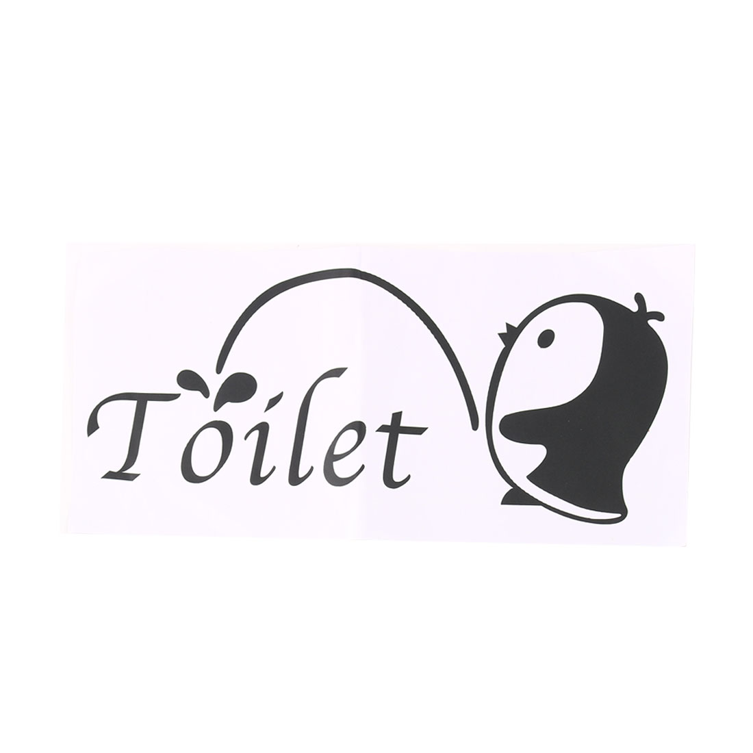 Cartoon Penguin Wall Sticker Paper Decals Bathroom Washroom Apartment Decoration