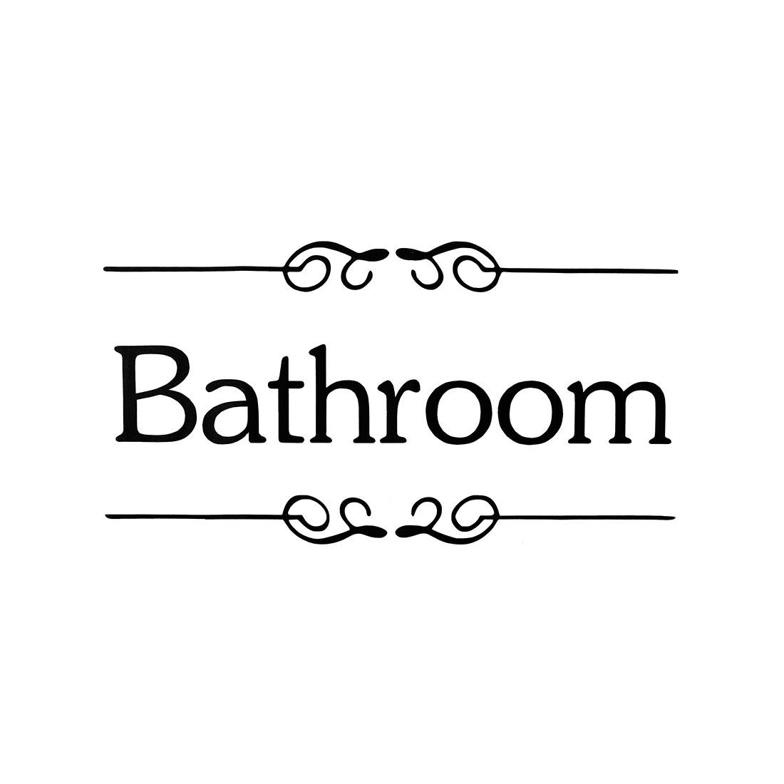 Letter Bathroom Wall Sticker Paper Decals Bathroom Washroom Apartment Decoration