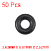 O-Rings Nitrile Rubber 3.63mm x 8.87mm x 2.62mm Round Seal Gasket 50 Pcs