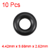 O-Rings Nitrile Rubber 4.42mm x 9.66mm x 2.62mm Round Seal Gasket 10 Pcs