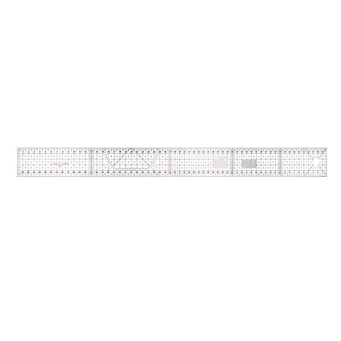 Beveled Ruler 60cm Plastic Transparent Sewing Tool B60