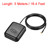 GPS Active Antenna MCX Male Plug 90-Degree 34dB Magnetic Mount 5 Meters Wire M