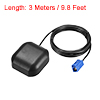 GPS Active Antenna FAKRA-C Plug 34dB Magnetic Mount 3 Meters Wire S