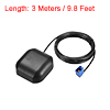 GPS Active Antenna FAKRA-C Plug 90-Degree 34dB Magnetic Mount 3 Meters Wire S