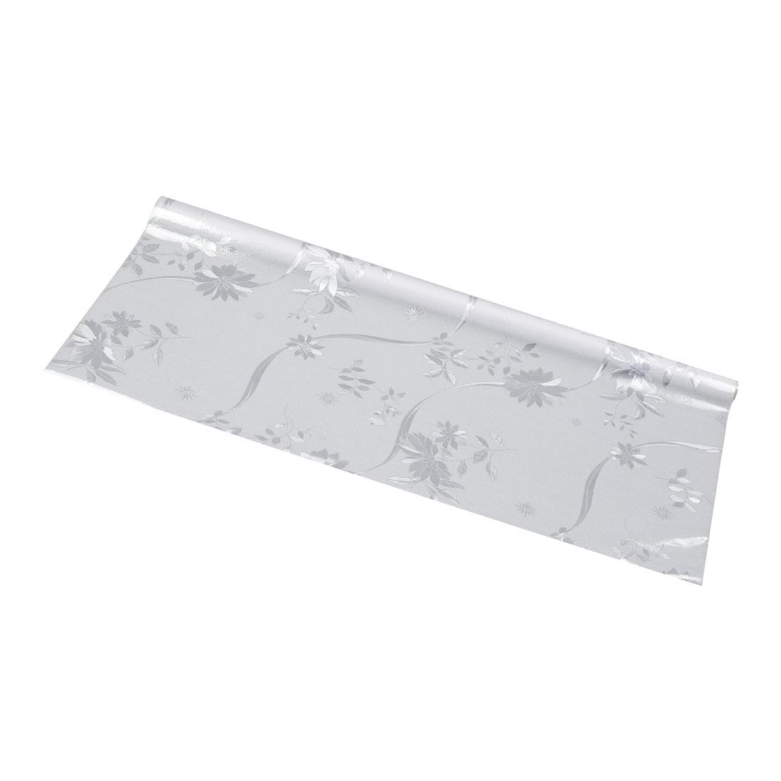 "Bathroom Home 35.4"" x 78.7"" Anti UV Window Film Sticker White Flower Shape"