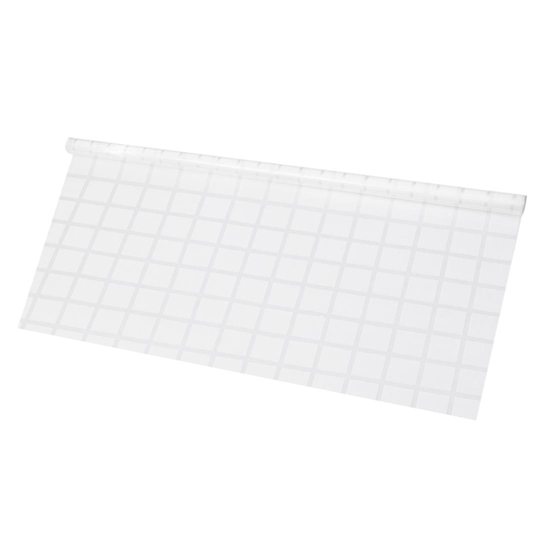 Bathroom Home 2.95 X 16.4ft Anti UV Window Film Stick Large Lattice Pattern