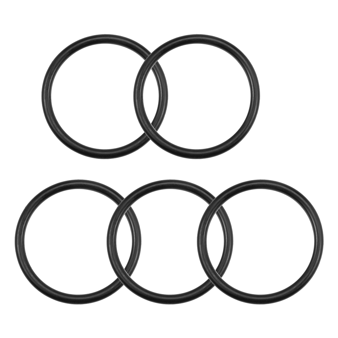 O-Rings Nitrile Rubber 61.6mm x 73mm x 5.7mm Round Seal Gasket 5 Pcs