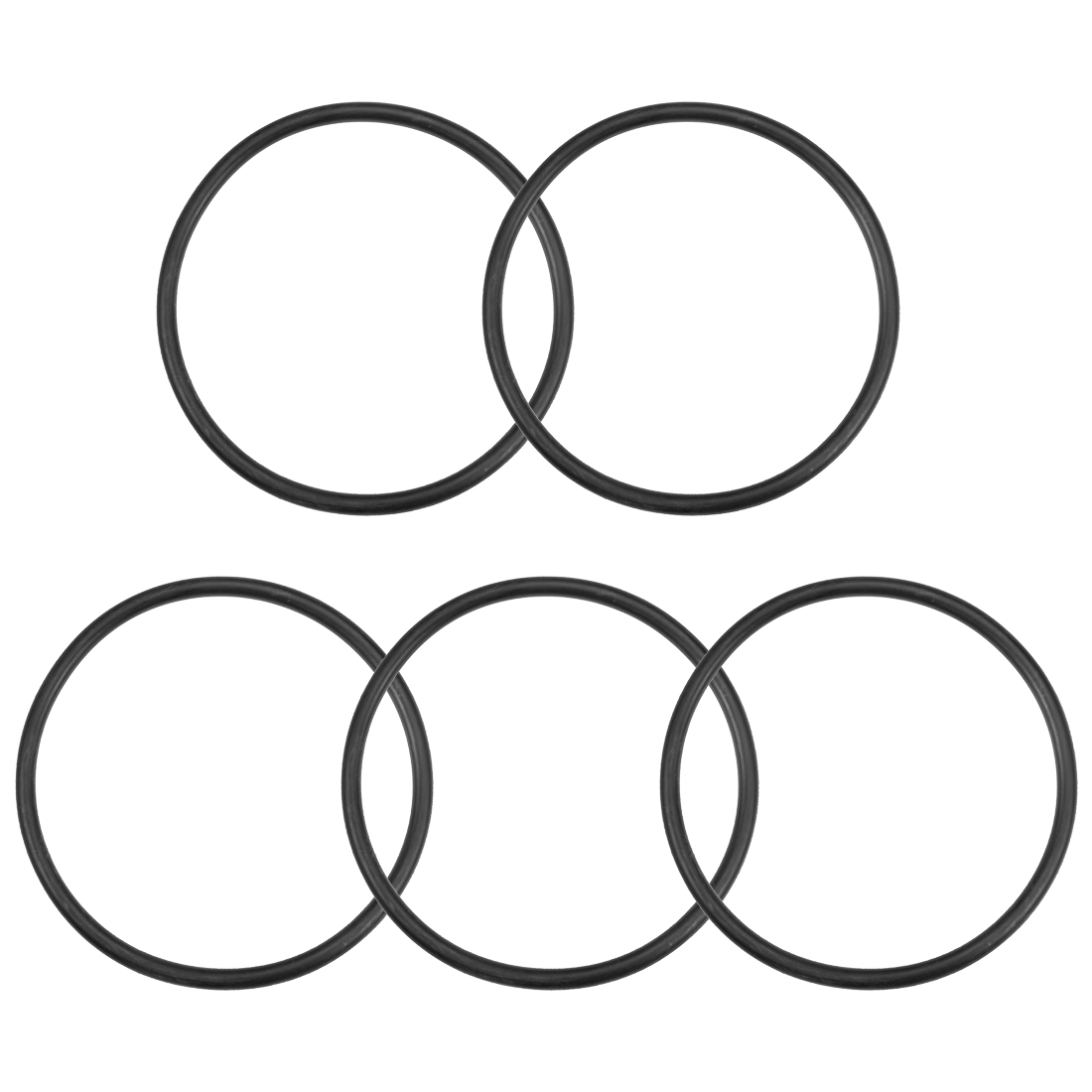 O-Rings Nitrile Rubber 98.6mm x 110mm x 5.7mm Round Seal Gasket 5 Pcs