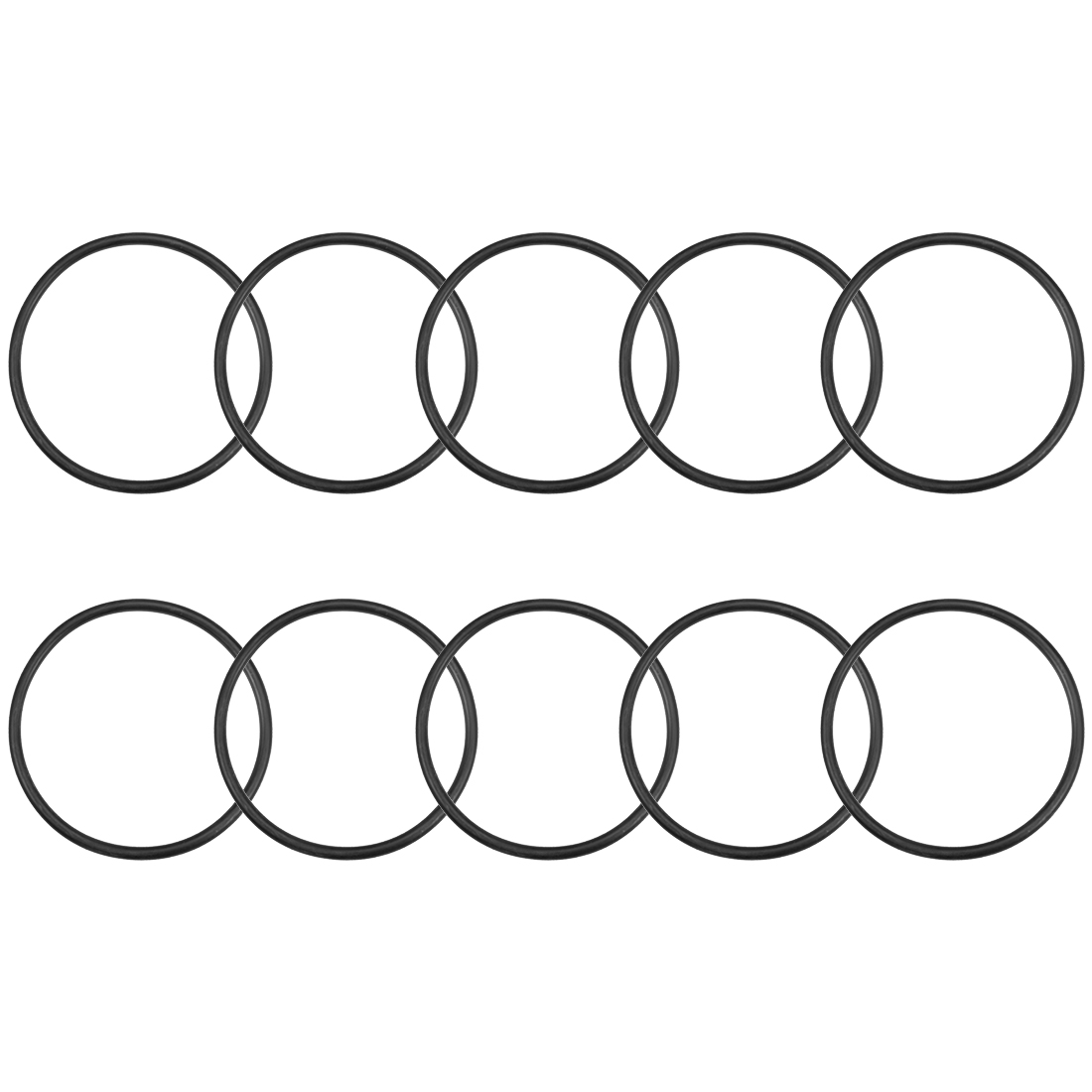 O-Rings Nitrile Rubber 98.6mm x 110mm x 5.7mm Round Seal Gasket 10 Pcs