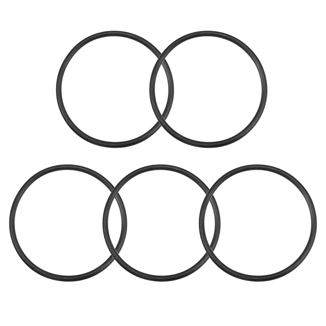 O-Rings Nitrile Rubber 103.6mm x 115mm x 5.7mm Round Seal Gasket 5 Pcs