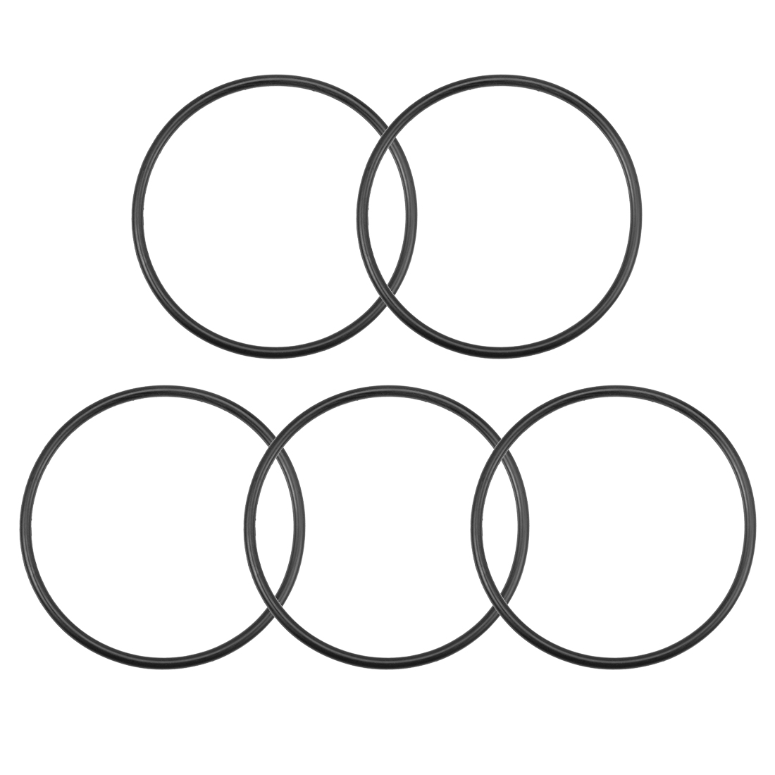 O-Rings Nitrile Rubber 113.6mm x 125mm x 5.7mm Round Seal Gasket 5 Pcs