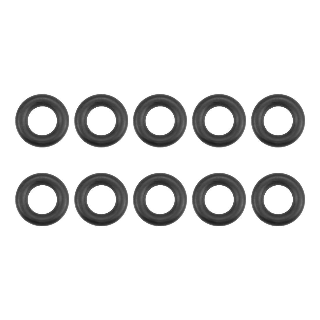 O-Rings Nitrile Rubber 6mm x 11.3mm x 2.65mm Round Seal Gasket 10 Pcs