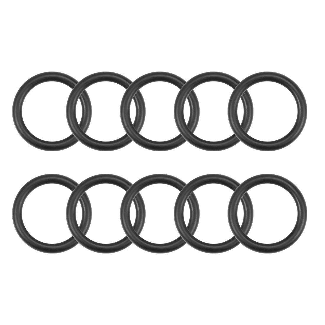 O-Rings Nitrile Rubber 14mm x 19.3mm x 2.65mm Round Seal Gasket 10 Pcs