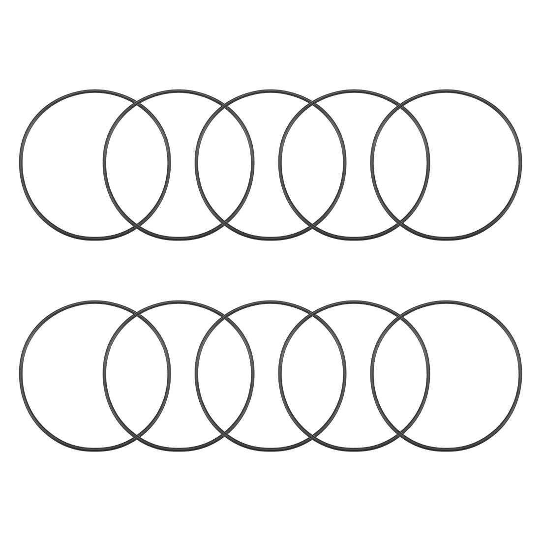 O-Rings Nitrile Rubber 92.5mm x 97.8mm x 2.65mm Round Seal Gasket 10 Pcs