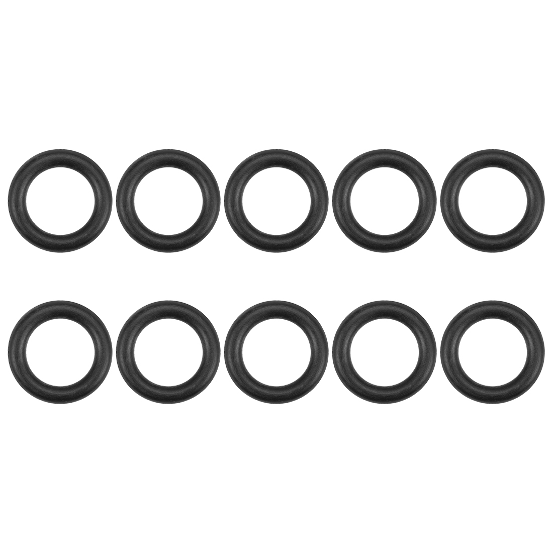 O-Rings Nitrile Rubber 8.75mm x 14.05mm x 2.65mm Round Seal Gasket 10 Pcs
