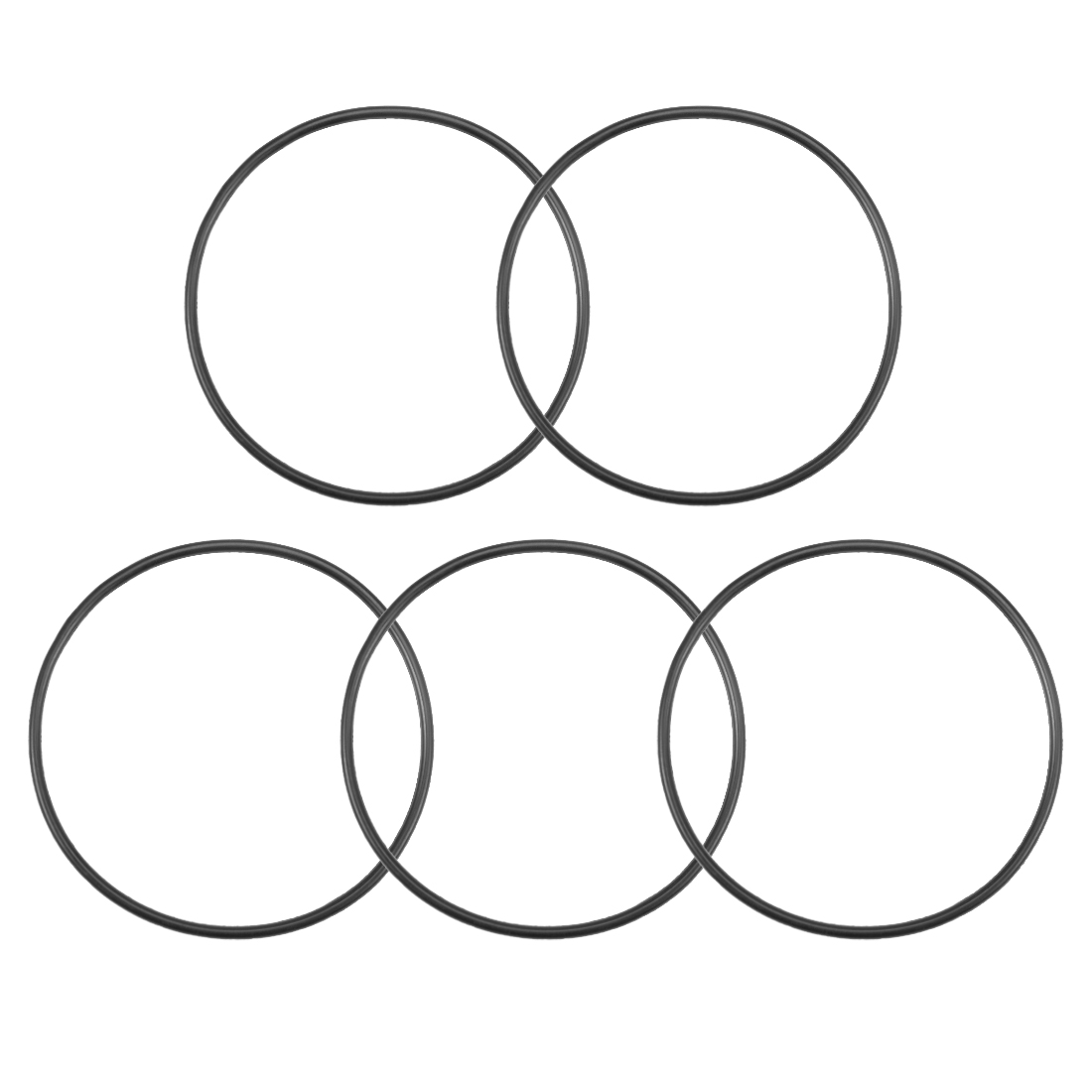 O-Rings Nitrile Rubber 75mm x 80.3mm x 2.65mm Round Seal Gasket 5 Pcs