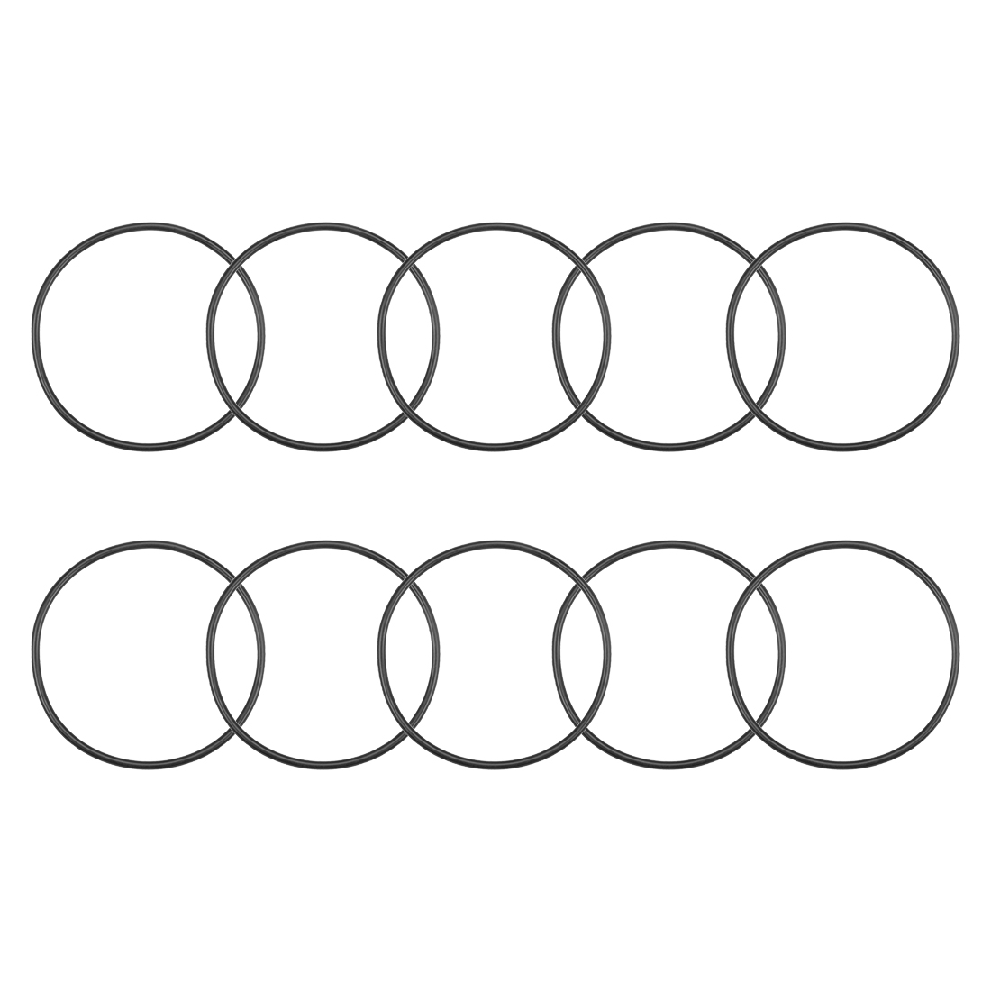O-Rings Nitrile Rubber 63mm x 68.3mm x 2.65mm Round Seal Gasket 10 Pcs