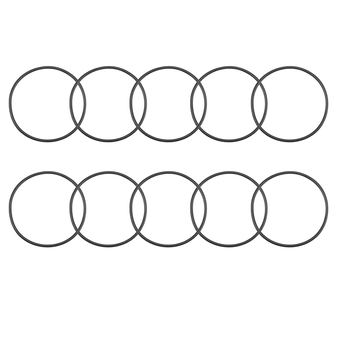 O-Rings Nitrile Rubber 62mm x 67.3mm x 2.65mm Round Seal Gasket 10 Pcs
