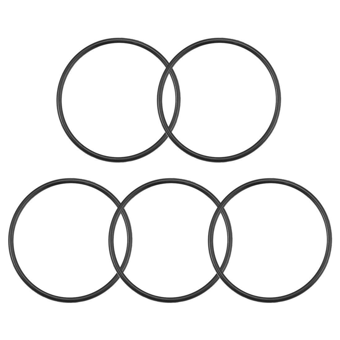 O-Rings Nitrile Rubber 50mm x 55.3mm x 2.65mm Round Seal Gasket 5 Pcs