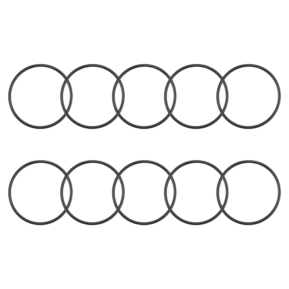 O-Rings Nitrile Rubber 50mm x 55.3mm x 2.65mm Round Seal Gasket 10 Pcs