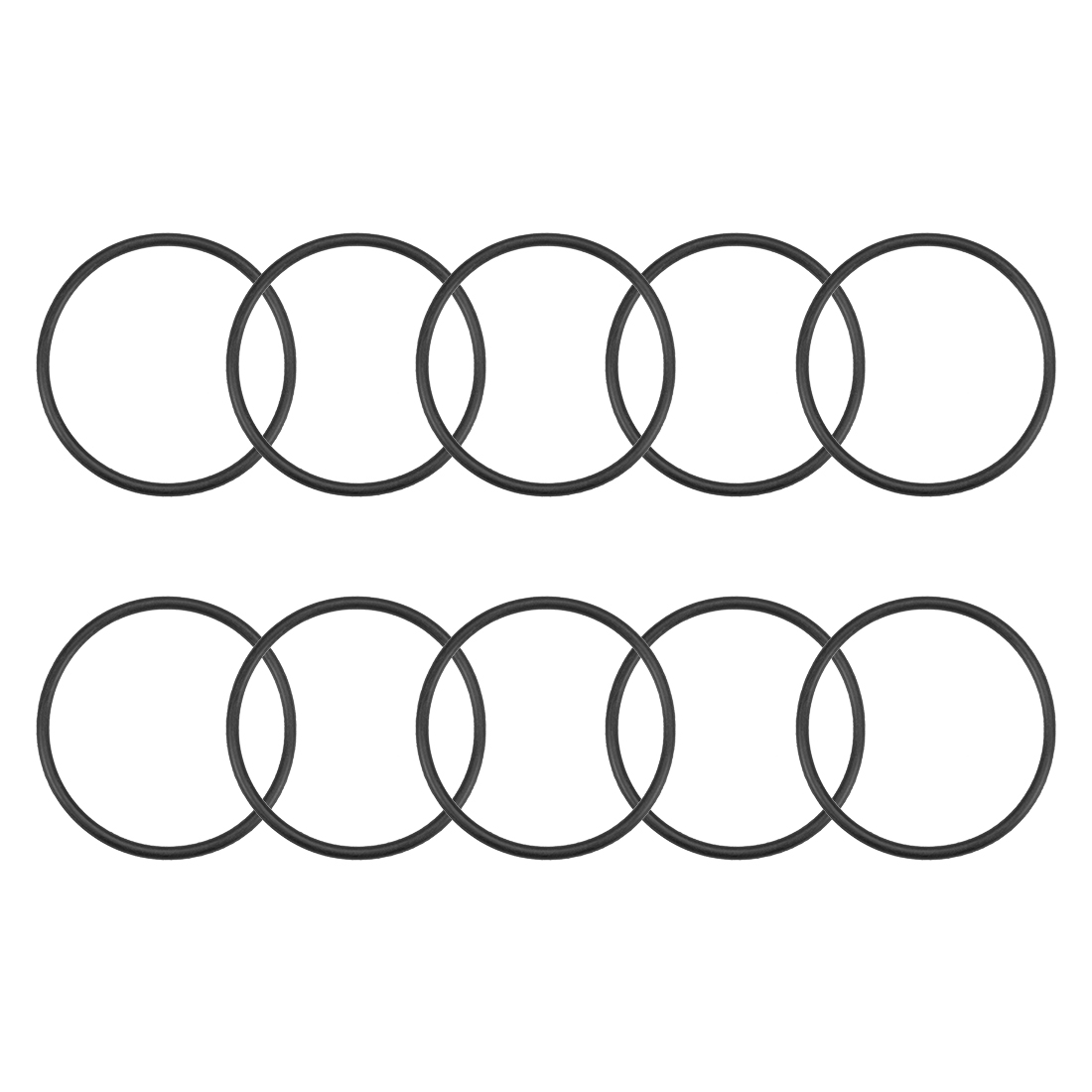 O-Rings Nitrile Rubber 46.2mm x 51.5mm x 2.65mm Round Seal Gasket 10 Pcs