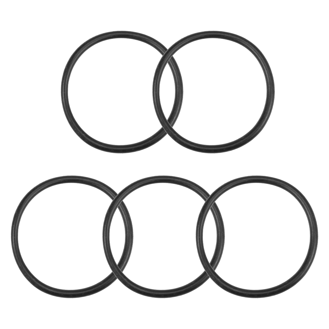 O-Rings Nitrile Rubber 36.5mm x 41.8mm x 2.65mm Round Seal Gasket 5 Pcs