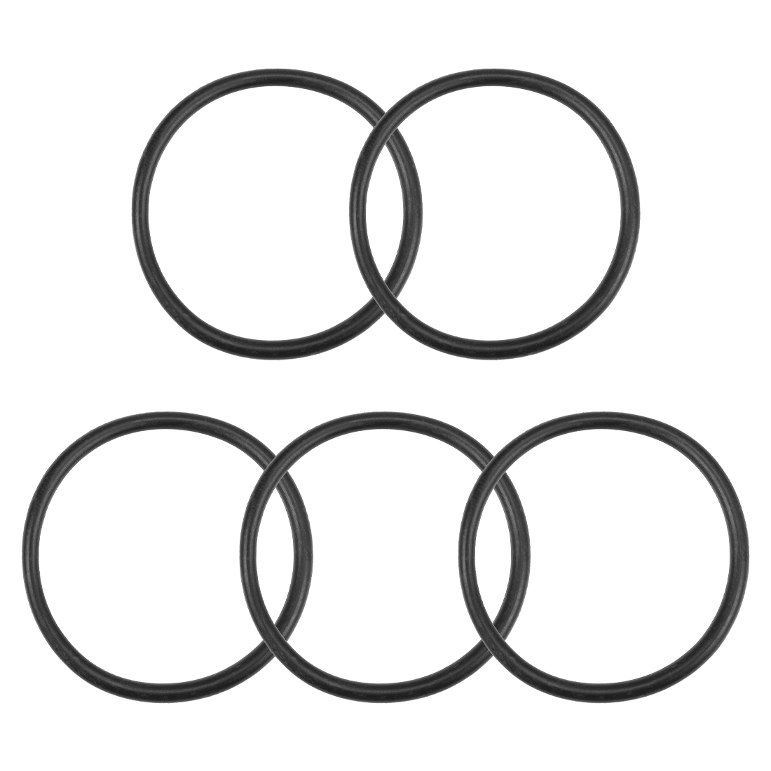 O-Rings Nitrile Rubber 34.5mm x 39.8mm x 2.65mm Round Seal Gasket 5 Pcs