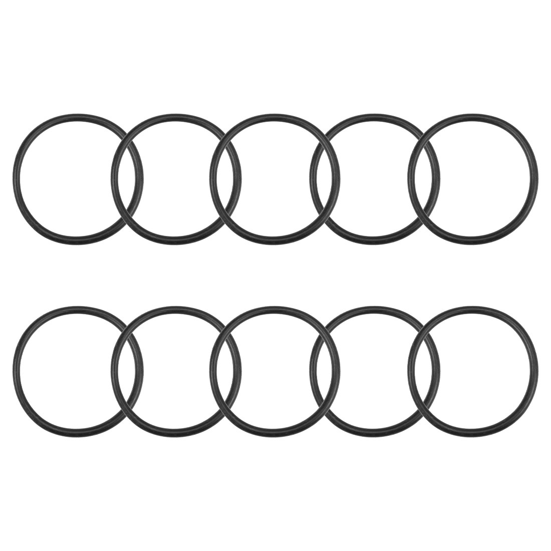 O-Rings Nitrile Rubber 34.5mm x 39.8mm x 2.65mm Round Seal Gasket 10 Pcs