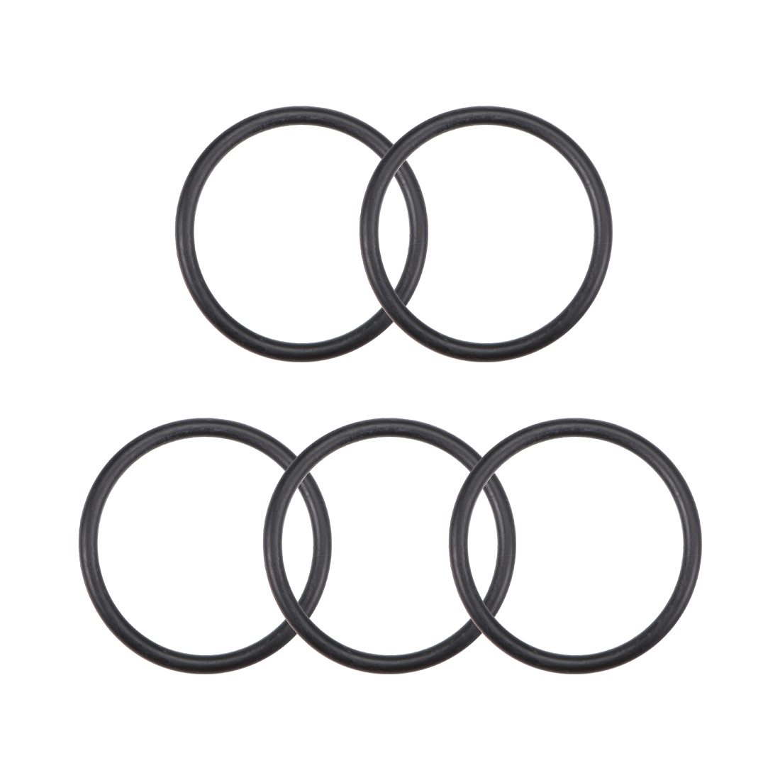 O-Rings Nitrile Rubber 29mm x 34.3mm x 2.65mm Round Seal Gasket 5 Pcs