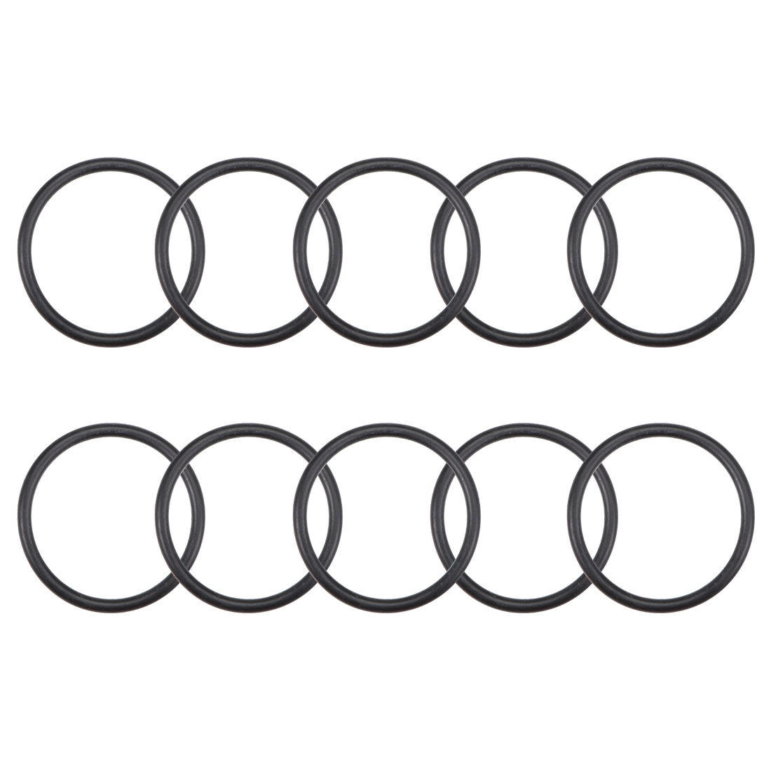O-Rings Nitrile Rubber 29mm x 34.3mm x 2.65mm Round Seal Gasket 10 Pcs