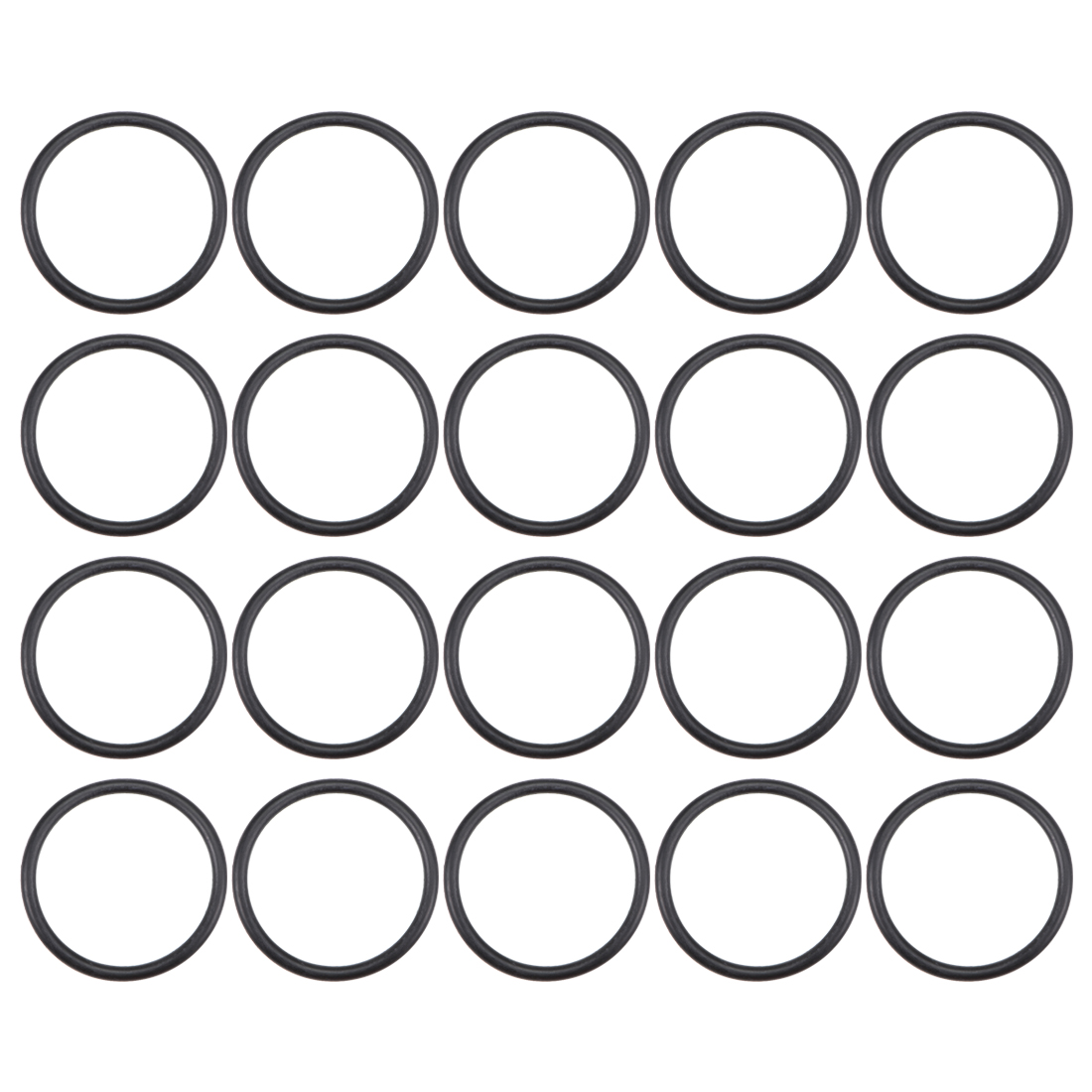 O-Rings Nitrile Rubber 25.8mm x 31.1mm x 2.65mm Round Seal Gasket 20 Pcs