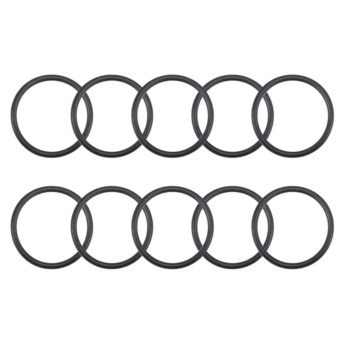 O-Rings Nitrile Rubber 25.8mm x 31.1mm x 2.65mm Round Seal Gasket 10 Pcs