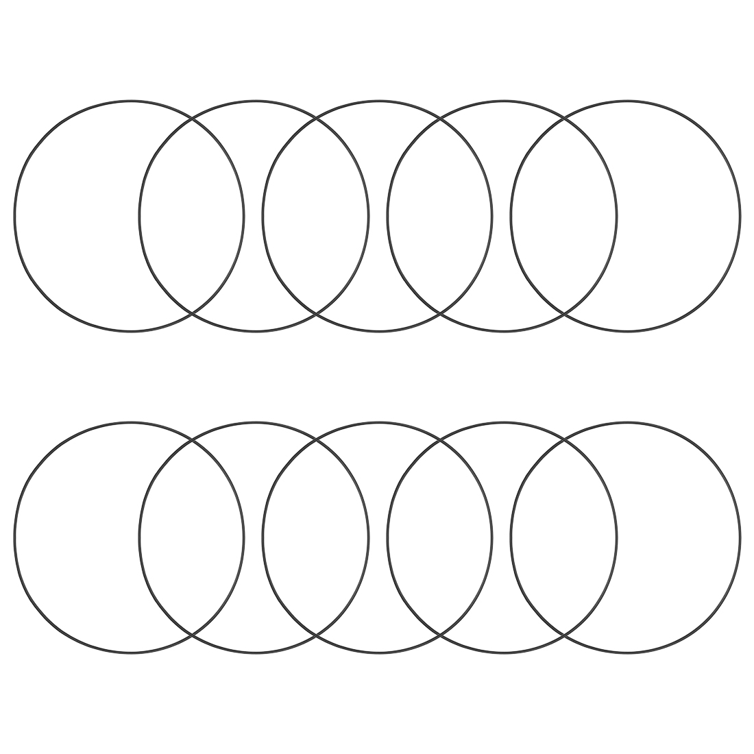 O-Rings Nitrile Rubber 175mm x 180.3mm x 2.65mm Round Seal Gasket 10 Pcs
