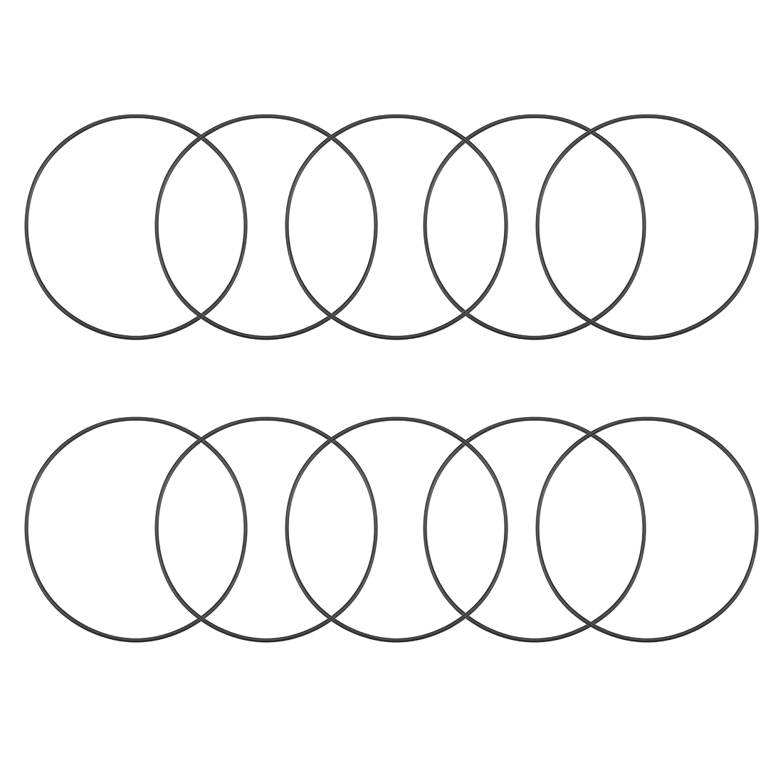 O-Rings Nitrile Rubber 132mm x 137.3mm x 2.65mm Round Seal Gasket 10 Pcs