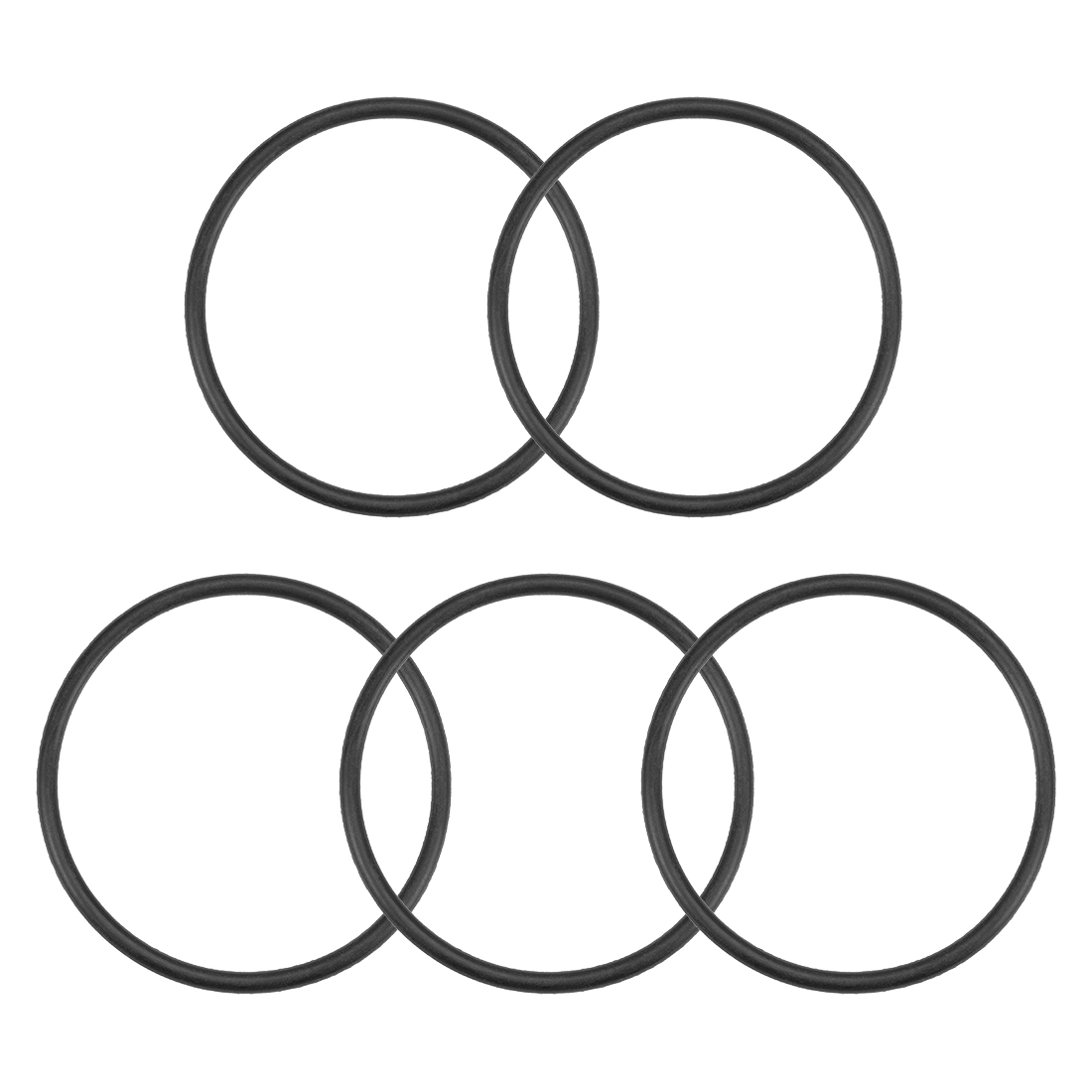 O-Rings Nitrile Rubber 45mm x 50.3mm x 2.65mm Round Seal Gasket 5 Pcs