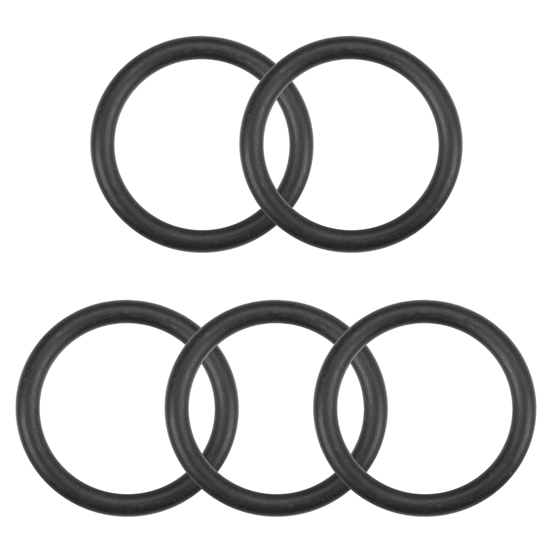 O-Rings Nitrile Rubber 17mm x 22.3mm x 2.65mm Round Seal Gasket 5 Pcs