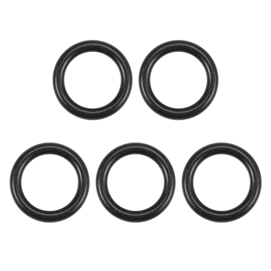 O-Rings Nitrile Rubber 12.5mm x 17.8mm x 2.65mm Round Seal Gasket 5 Pcs