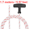 Recoil Starter Rope Handle 5mm Dia 1.7m 5.5ft Polyester Pull Cord 173/188/190F