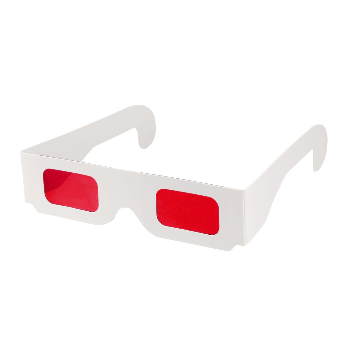 Secret Decoder Glasses Red-Red Filter Lens White Foldable Frame 3D Glasses 10pcs