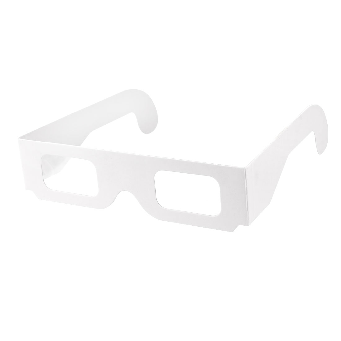 Paper Cardboard Diffraction Glasses White Foldable Frame See Colorful Rainbows